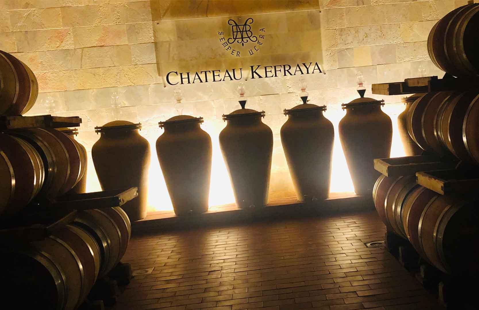 Amphoren und Weinkeller im Libanon