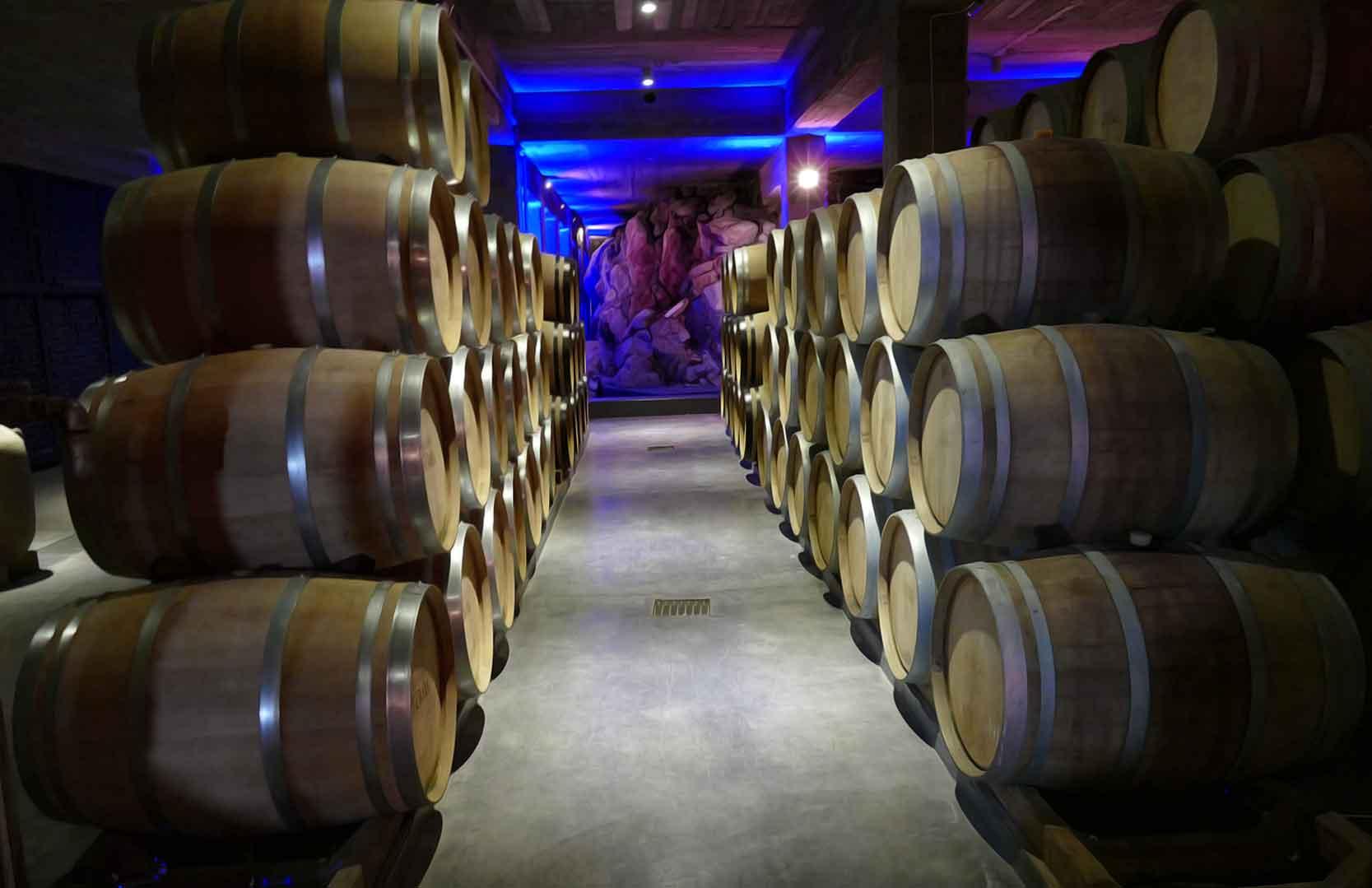 Weinkeller von Chateau Saint Thomas