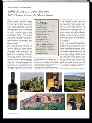 Peer F. Holm über das libanesische Weingut Coteaux du Liban