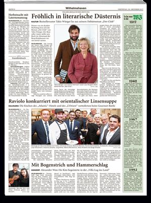 Wilhelmshavener Zeitung über Libanesische Weine