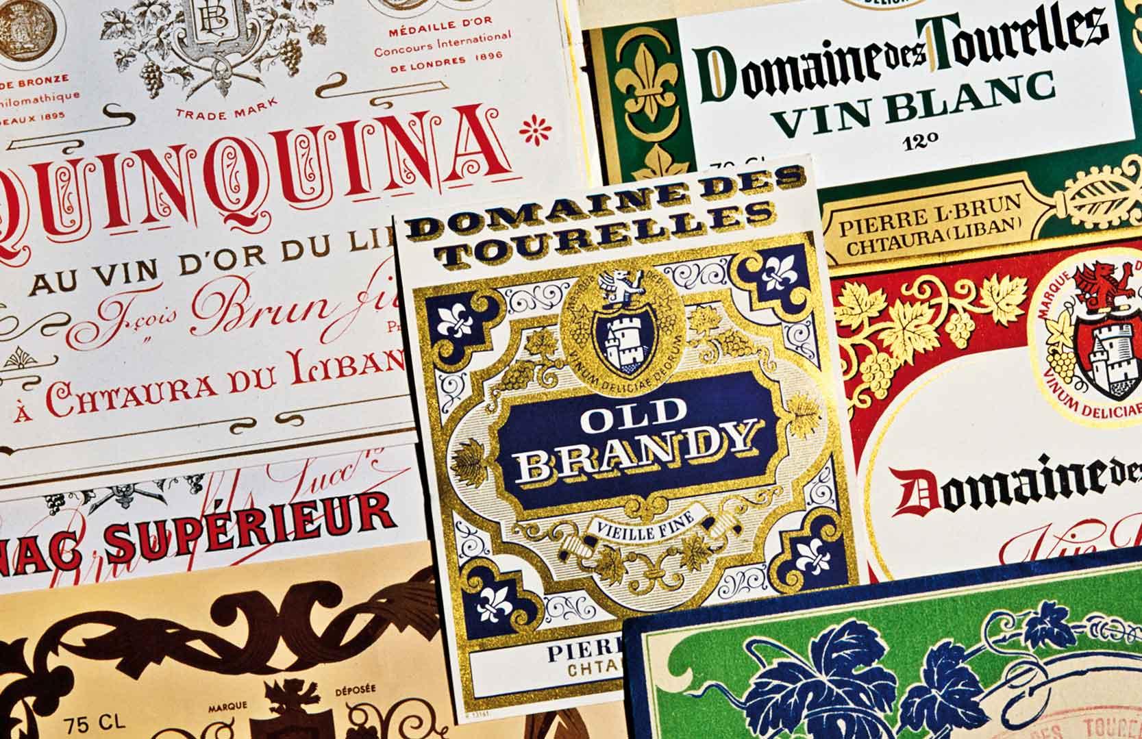 Weinetiketten und Labels von Domaine des Tourelles